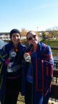 The marathon girls, Kelly & Natalie