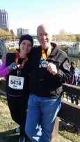 11 years after I ran the Richmond marathon I returned and ran the half. I was blessed to have Kelly there running the full.