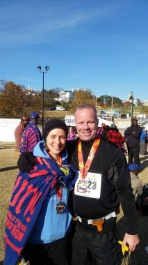 Kelly and Mark celebrate their marathon PRs in Richmond